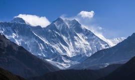 Dach der Welt, der Mount Everest lizenzfreie stockbilder