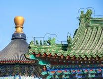 Dach des alten Gebäudes im Tempel des Himmels Stockfoto