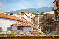 Dach des alten Hauses im La Orotava, Teneriffa, Spanien. Lizenzfreie Stockfotos