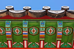 Dach des asiatischen Tempels Lizenzfreies Stockbild