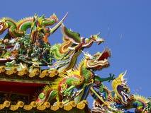 Dach des chinesischen Tempels lizenzfreies stockfoto