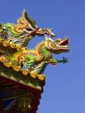 Dach des chinesischen Tempels lizenzfreie stockfotos