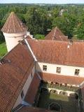 Dach des Edole-Schlosses Stockfotos