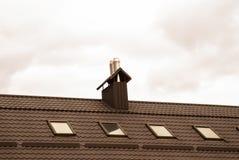 Dach des Hauses lizenzfreies stockbild
