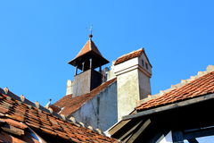 Dach des Kleieschlosses, Dracula-Schloss, Rumänien Stockbilder