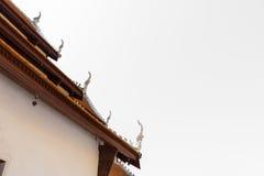 Dach des siamesischen Tempels Lizenzfreies Stockbild