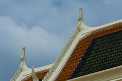 Dach des Tempels stockbilder