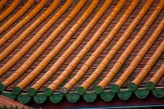 Dach des traditionellen Chinesen Stockbild
