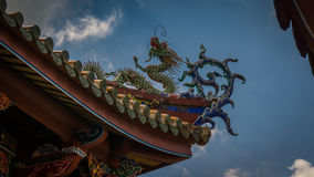 Dach-Detail des Tempel-BO-Ein Stockfotos