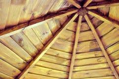 Dach drewniany gazebo od inside Zdjęcia Stock