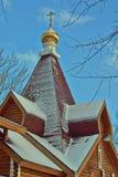 Dach drewniany Ortodoksalny kościół Obraz Royalty Free