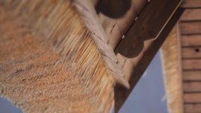 Dach drewno i słoma zbiory wideo