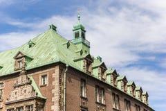Dach dziejowy urząd miasta Bremen fotografia stock