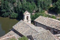 Dach einer alten Kapelle in Toledo Stockfotografie
