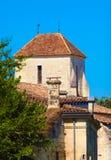 Dach eines französischen traditionellen Hauses Stockbild