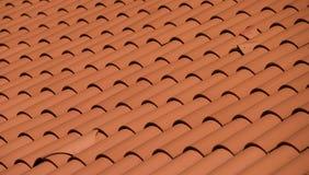 Dach eines Hauses in der roten Fliese Stockfoto