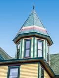 Dach eines Hauses, viktorianischer Stil, Cape May, NJ, USA stockfoto