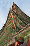 Dach Gyeongbokgung pałac budynek w Seul, Korea Zdjęcia Royalty Free