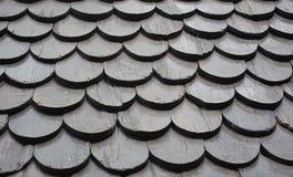 Dach hergestellt vom Holz Stockbild