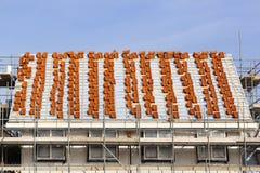 Dach im Bau stockfotos