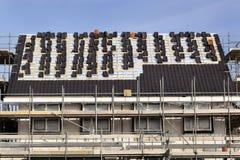 Dach im Bau stockbilder