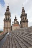 Dach Katedra Santiago De Compostela Obrazy Stock