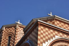 Dach Kirchen-St. Simeon Mirotochivi Lizenzfreies Stockfoto