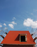 Dach mit roten Fliesen Stockfotografie