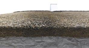 Dach-Mit Stroh decken Stockfotos