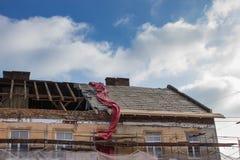 Dach naprawy Fotografia Royalty Free