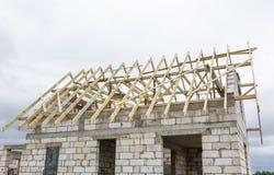 Dach niedokończony dom w wsi Zdjęcie Royalty Free