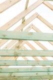 Dach niedokończony dom w wsi Fotografia Royalty Free