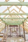 Dach niedokończony dom w wsi Obraz Stock