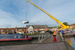 Dach podnosi z barki Obrazy Royalty Free