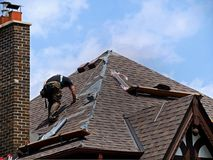 Dach-Reparatur stockbilder