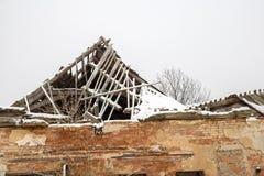dach rujnujący Obraz Royalty Free