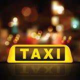 dach samochodu znaku taksówkę Obraz Royalty Free