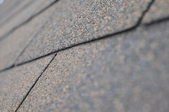 Dach-Schindeln schließen oben Stockfotografie