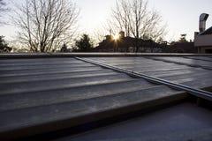 Dach am Sonnensatz Stockfoto
