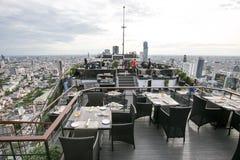 Dach-Spitzenrestaurant Lizenzfreies Stockbild