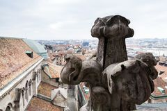 Dach St Peters katedra, Genewa fotografia stock