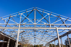 Dach-Stahl-Rahmenkonstruktion Stockfoto
