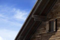 Dach stary drewniany hotel Obrazy Stock