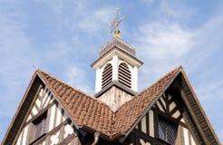 Dach stary europejczyka dom Fotografia Stock