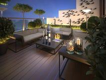 Dach - taras w nowożytnym stylu