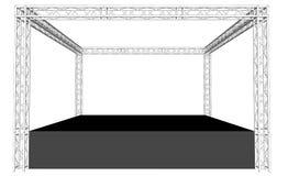 Dach używać Kratownicowego system Zdjęcie Stock