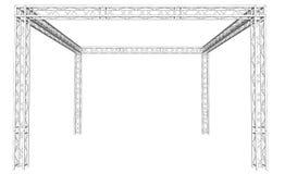 Dach używać Kratownicowego system Obrazy Stock