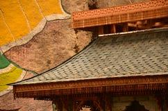 Dach und andere Verzierungen Stockbilder