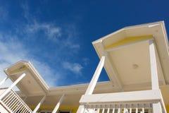 Dach und Balkon stockfoto