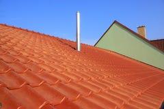 Dach und Kamin Lizenzfreie Stockbilder